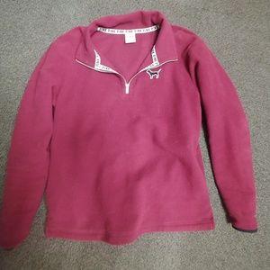 PINK fleeze pullover size sm